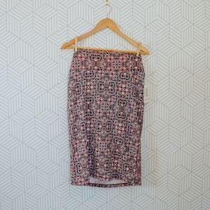 NWT LulaRoe Printed Purple Cassie Skirt XL